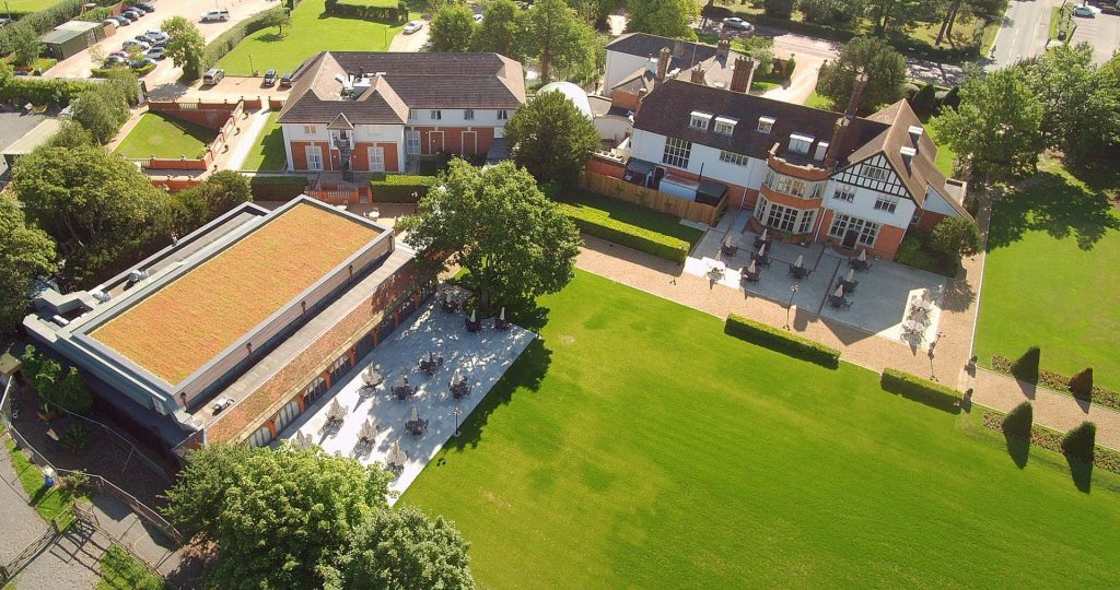 birdseye view over Greenwoods a Essex Countryside Getaway