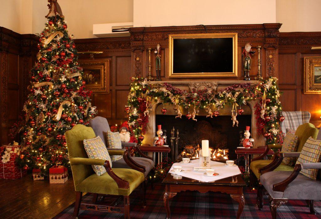 Christmas decor at Greenwoods Essex Hotel