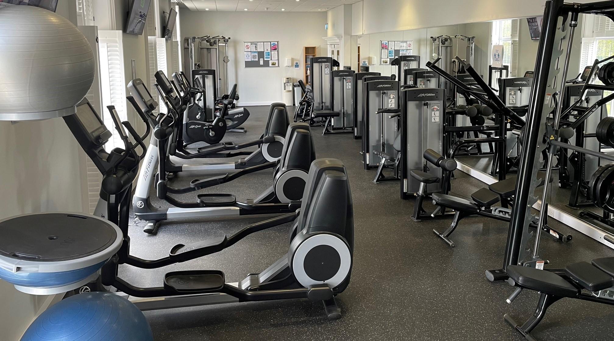 Socially distanced gym